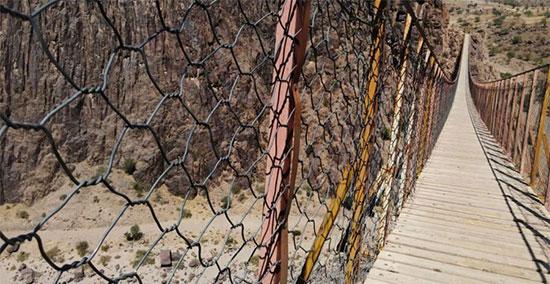 پل معلق پیرتقی اردبیل (استرس در آسمان ) 1
