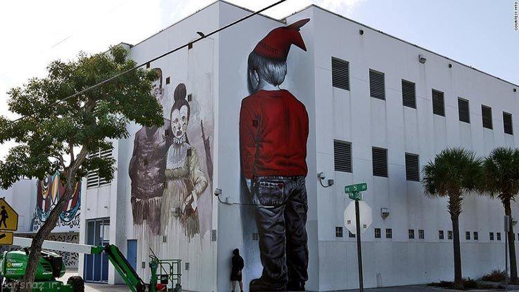 نقاشی های عجیب روی دیوار(سه بعدی) 1