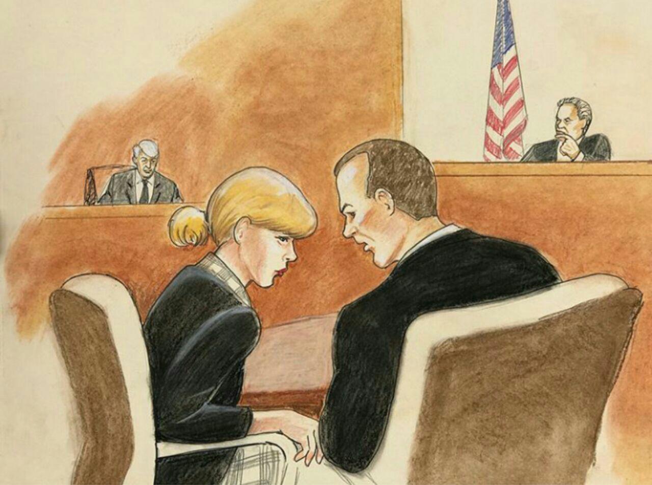 عکس فن ارت های منتشر شده از تیلورسویفت در روز دادگاه » تیلور سویفت   TaylorSwift.Pro عکس جدید