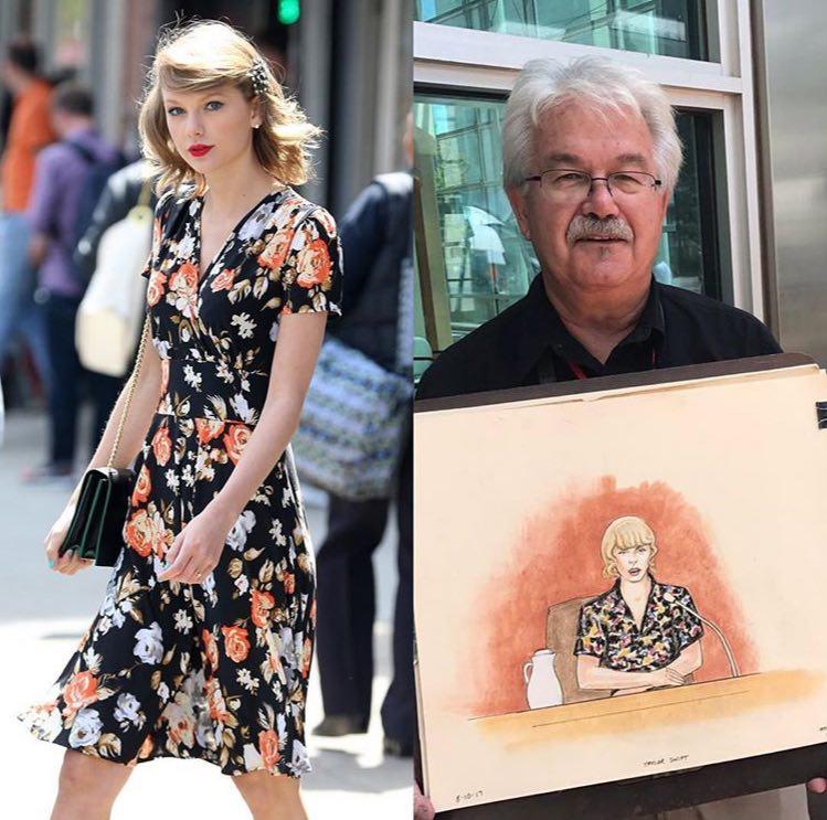 عکس نقاشی های تازه منتشر شده از دادگاه تیلورسویفت » تیلور سویفت   TaylorSwift.Pro عکس جدید
