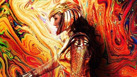 تصویر جدید فیلم Wonder Woman 1984 نمای بهتر از لباس عقاب طلایی را نشان میدهد 1