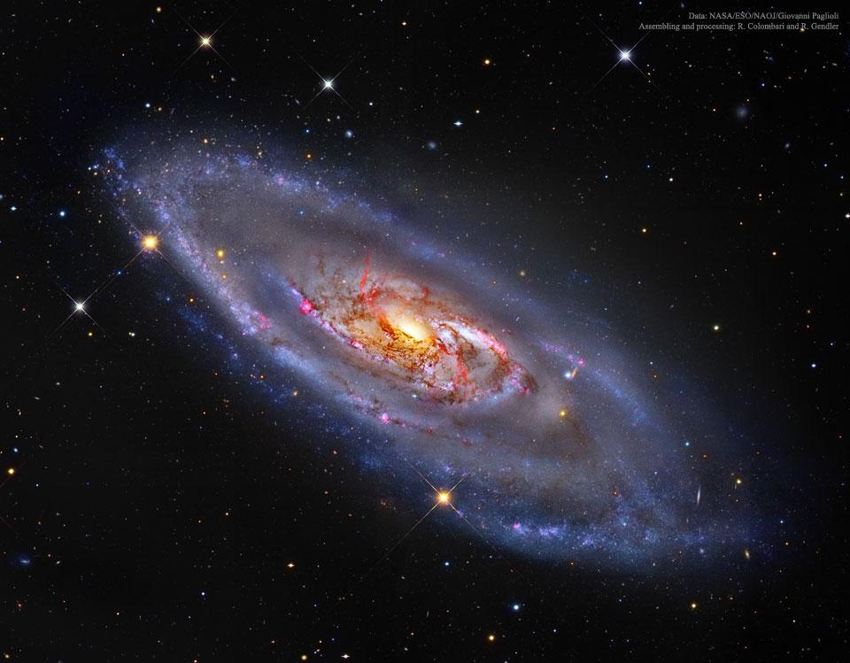یک کهکشان مارپیچی با هستۀ عجیب و غریب 1