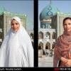عکس های جالب زنان قبل و بعد از چادر(خیلی جالب) عکس جدید